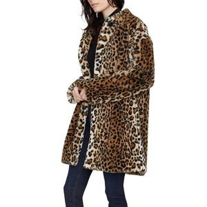 Sanctuary Leopard Print Faux Fur Jacket